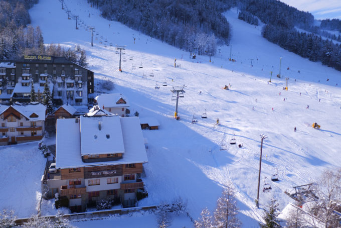 Location on the ski slope